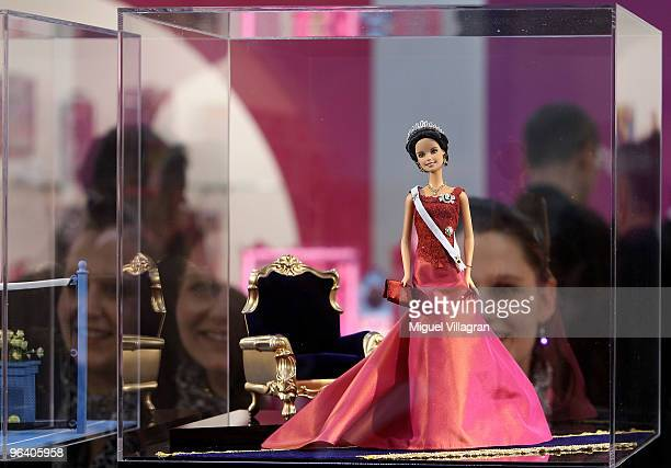 Barbie doll depicting Crown Princess Victoria of Sweden is displayed during the International Toy Fair on February 4, 2010 in Nuremberg, Germany....