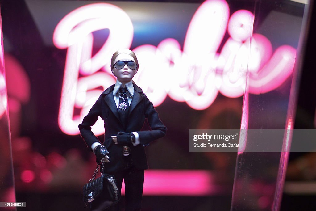 A Barbie Doll is displayed in the Barbie Experience during Sao Paulo Fashion Week Winter 2015 at Porao das Artes on November 3, 2014 in Sao Paulo, Brazil.