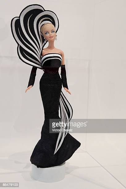 Barbie doll is showcased during the Barbie's 50th Anniversary Exhibition at Museo Franz Mayer on March 9 2009 in Mexico City