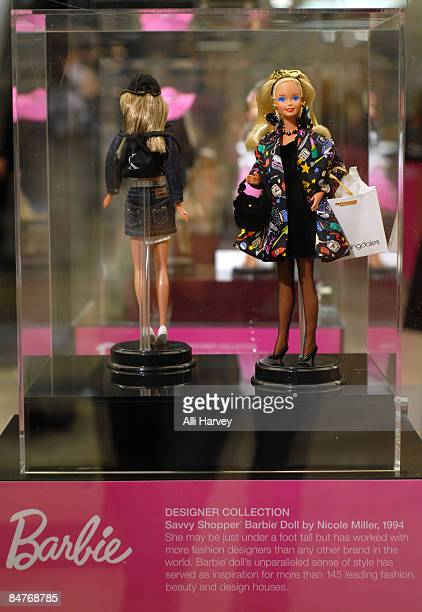 Barbie dolls are displayed at Bloomingdale's 59th Street to celebrate Barbie's 50th anniversary on February 12 2009 in New York City
