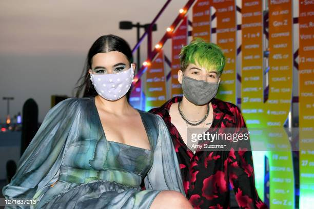 Barbie Ferreira and Elle Puckett attend the HBO Max DriveIn Premiere of Unpregnant on September 9 2020 in Glendale California