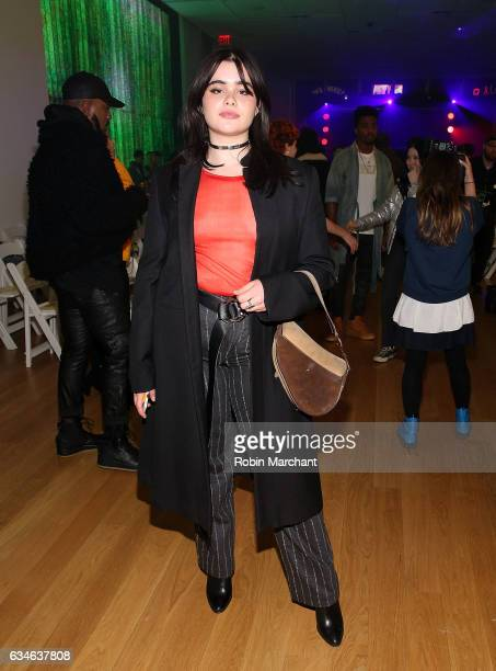 Barbie Ferreira attends VFILES Front Row during New York Fashion Week on February 10 2017 in New York City