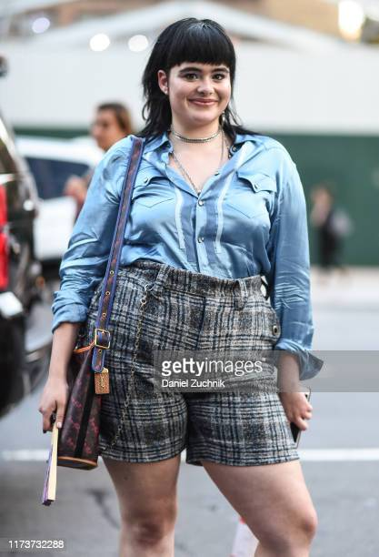 Barbie Ferreira is seen wearing a Coach outfit outside the Coach show during New York Fashion Week S/S20 on September 10, 2019 in New York City.