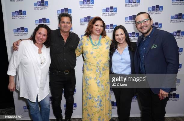 Barbie Kilgman Peter Lenkov Brenda Victoria Castillo Gloria CalderonKellet and Jaime Davila attend the NHMC's 17th Annual Los Angeles Impact Awards...