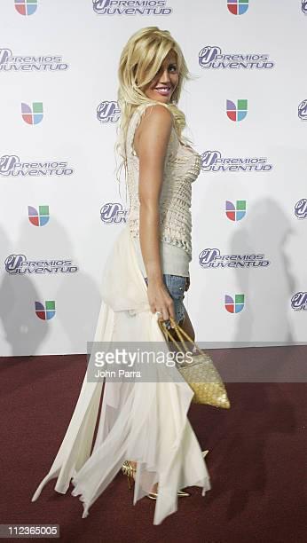 Barbie Simons during 2005 Premios de la Juventud - Arrivals at University of Miami in Coral Gables, Florida, United States.