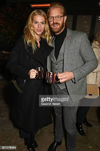 Barbora Bediova and Alistair Guy attend The Ivy Chelsea Garden's Guy Fawkes party on November 5 2016 in London England