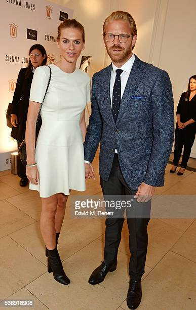 Barbora Bediova and Alistair Guy attend the launch of British fashion brand Sienna Jones' debut collection 'The Marina Range' at The Orangery,...