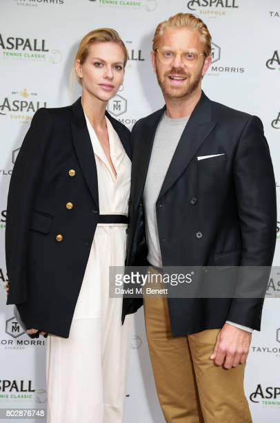 Barbora Bediova and Alistair Guy attend the Taylor Morris Eyewear x Aspall Tennis Classic Player's Party at Bluebird Chelsea on June 28 2017 in...