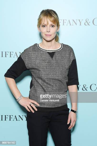 Barbora Bobulova attends Tiffany Co Gala Dinner for 'Please Stand By' movie at Hotel Bernini on October 31 2017 in Rome Italy