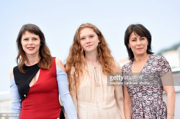 Barbora Bobulova Charlotte Cetaire and Marilyne Canto attend the Dopo La Guerra Apres La Guerre photocall during the 70th annual Cannes Film Festival...