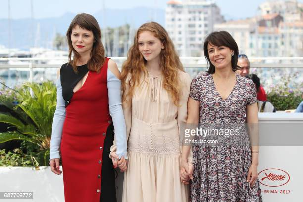 Barbora Bobulova Charlotte Cetaire and Marilyne Canto attend the Dopo La Guerra Apres La Guerre photocall during the 70th annual Cannes Film Festival...