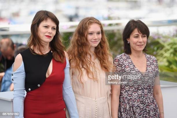 Barbora Bobulova Charlotte Cetaire and Marilyne Canto attends the Dopo La Guerra Apres La Guerre photocall during the 70th annual Cannes Film...