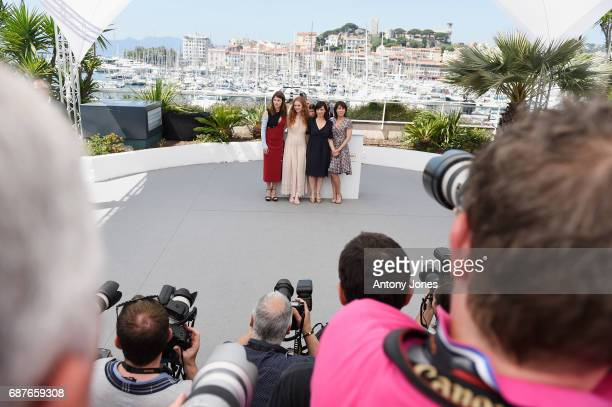 Barbora Bobulova Charlotte Cetaire director Annarita Zambrano and Marilyne Canto attends the Dopo La Guerra Apres La Guerre photocall during the 70th...