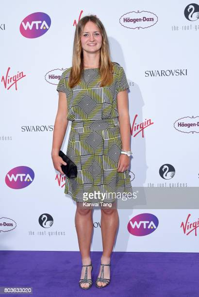 Barbora Krejcikova attends the WTA PreWimbledon party at Kensington Roof Gardens on June 29 2017 in London England