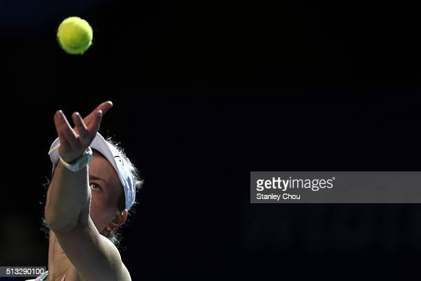 Barbora Krejcikova of the Czech Republic in action during Day Three of the 2016 BMW Malaysian Open at Kuala Lumpur Golf Country Club on March 2 2016...