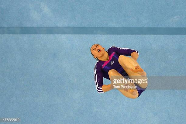 Barbora Mokosova of Slovakia competes on the floor in the Women's Team Final and Individual Qualification during day three of the Baku 2015 European...