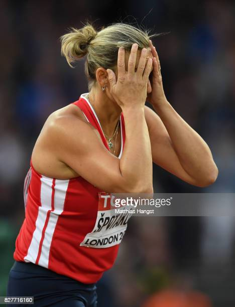 Barbora Spotakova of Czech Republic competes in the Women's Javelin final during day five of the 16th IAAF World Athletics Championships London 2017...
