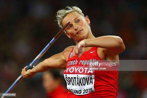 Barbora Spotakova of the Czech Republic competes in the Women's Javelin final during day nine of the 15th IAAF World Athletics Championships Beijing...