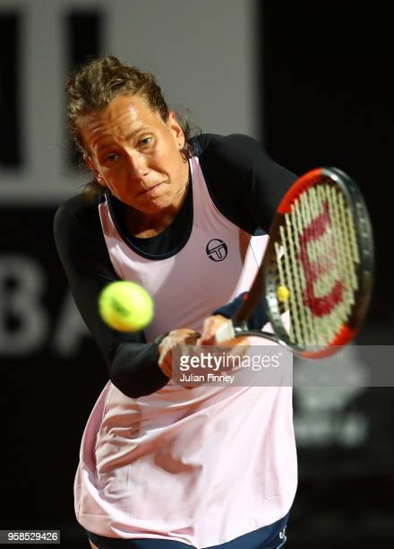 Barbora Strycova of Czech Republic in action against Sloane Stephens of USA during day two of the Internazionali BNL d'Italia 2018 tennis at Foro...