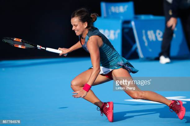 Barbora Strycova of the Czech Republic slips and falls during against Daria Gavrilova of Australia during the Women's singles 3rd round on day six of...
