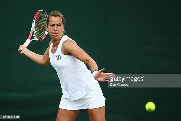 Barbora Zahlavova Strycova of Czech Republic during her Ladies Doubles Second round match with Kimiko DateKrumm of Japan against Ashleigh Barty and...