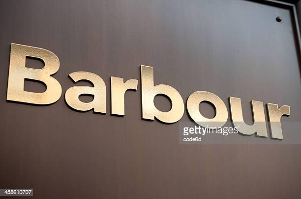 Barbour store sign at Regent Street, London