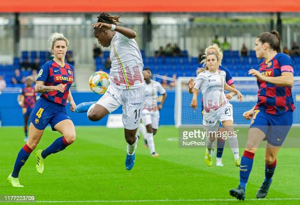 Barbra Banda during the match between FC Barcelona and EDF Logrono, corresponding to the week 6 of the Liga Iberdrola, played at the Johan Cruyff...
