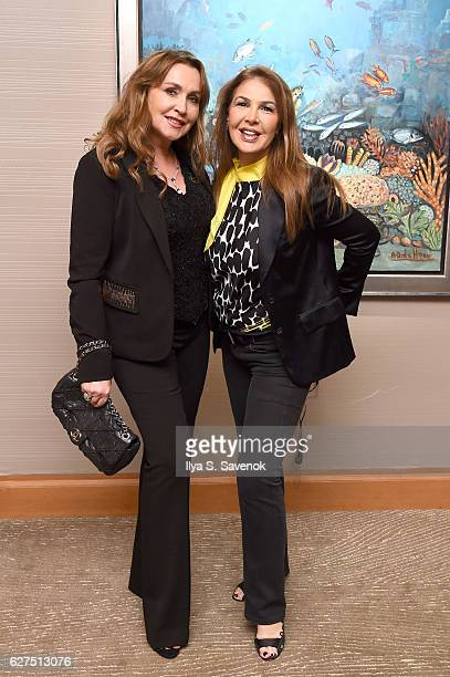 Barbra Cooper and Claudia Lang attend Underwater Dreams To Life In Color Art Exhibit Featuring Antonio Dominguez De Haro And Romero Britto At Four...