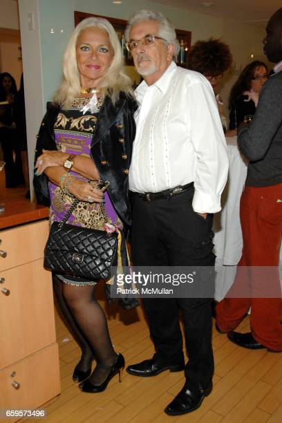 "Barbra Gelber and Justin Jacobs attend Sofia's ""Hair for Health"" Annual Party at the Rodolfo Valentin Salon and Spa on October 11, 2009 in New York..."