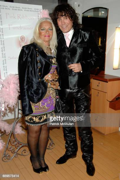 """Barbra Gelber and Rodolfo Valentin attend Sofia's """"Hair for Health"""" Annual Party at the Rodolfo Valentin Salon and Spa on October 11 2009 in New York..."""