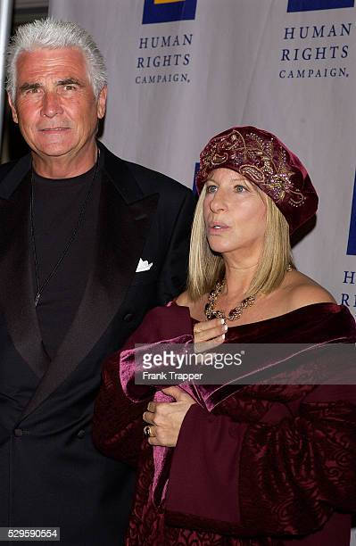 Barbra Streisand and husband James Brolin arrive at the Human Rights Campaign's Annual Gala