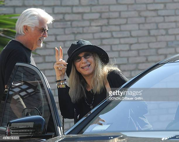 Barbra Streisand and James Brolin are seen on May 26, 2014 in Los Angeles, California.