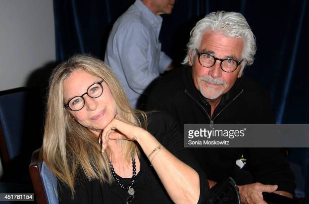Barbra Streisand and James Brolin attend the And So It Goes premiere at Guild Hall on July 6 2014 in East Hampton New York