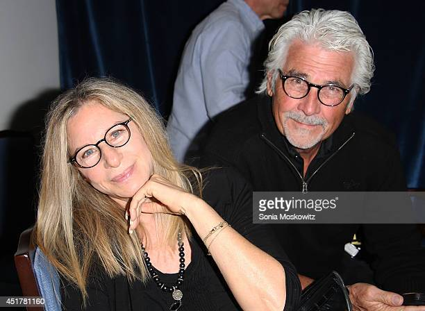 "Barbra Streisand and James Brolin attend the ""And So It Goes"" premiere at Guild Hall on July 6, 2014 in East Hampton, New York."
