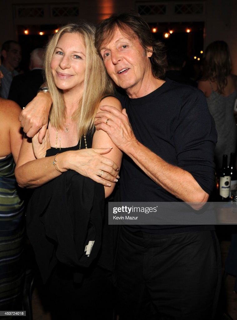 Barbra Streisand and Paul McCartney attend Apollo in the Hamptons at The Creeks on August 16, 2014 in East Hampton, New York.