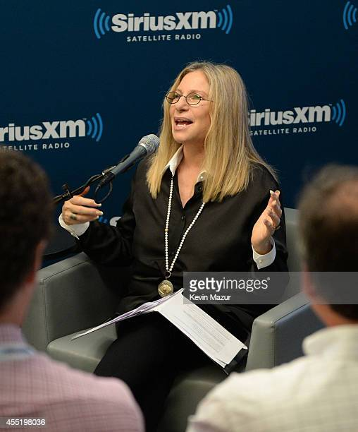 Barbra Streisand answers fan questions during SiriusXM's Town Hall hosted by Jay Landers at SiriusXM Studios on September 10 2014 in New York City