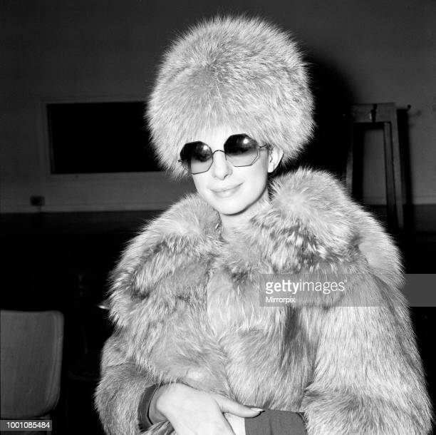 Barbra Streisand arrives at Heathrow Airport She is here to shoot scenes for Paramount's 'On a Clear Day You Can See Forever' 28th March 1969