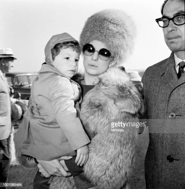 Barbra Streisand arrives at Heathrow Airport with her son Jason Gould She is here to shoot scenes for Paramount's 'On a Clear Day You Can See...