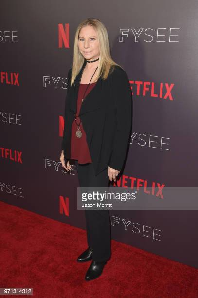 Barbra Streisand attends Barbra Streisand And Jamie Foxx In Conversation At Netflix's FYSEE at Raleigh Studios on June 10 2018 in Los Angeles...