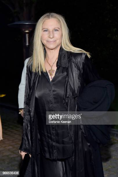 Barbra Streisand attends Chanel Dinner Celebrating our Majestic Oceans A Benefit for NRDC at Private Residence on June 2 2018 in Malibu California