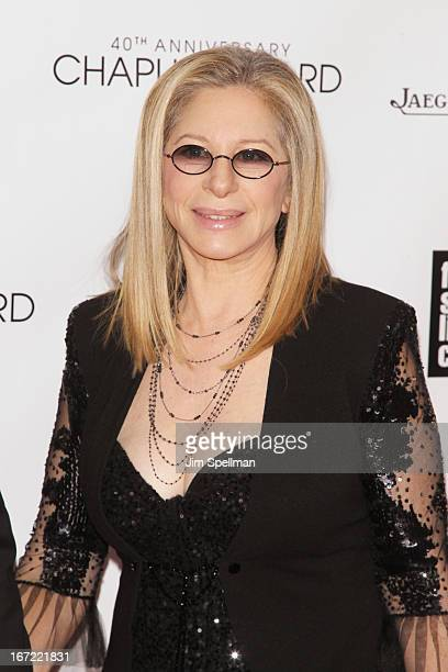 Barbra Streisand attends the 40th Anniversary Chaplin Award Gala at Avery Fisher Hall at Lincoln Center for the Performing Arts on April 22, 2013 in...