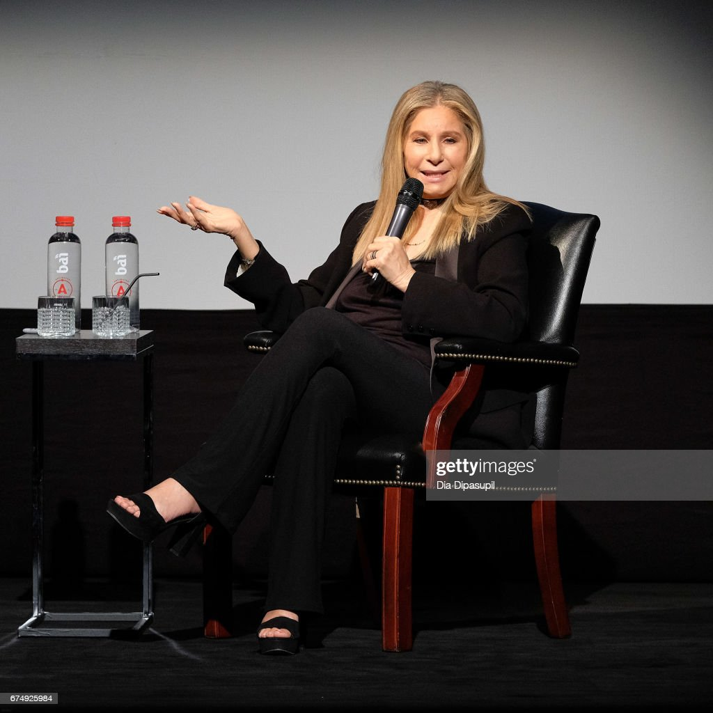 Barbra Streisand with Robert Rodriguez during the 2017 Tribeca Film Festival at BMCC Tribeca PAC on April 29, 2017 in New York City.
