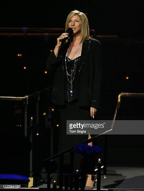 Barbra Streisand during Barbra Streisand Performing at Boardwalk Hall Atlantic City - November 4, 2006 at Boardwalk Hall in Atlantic City, New...