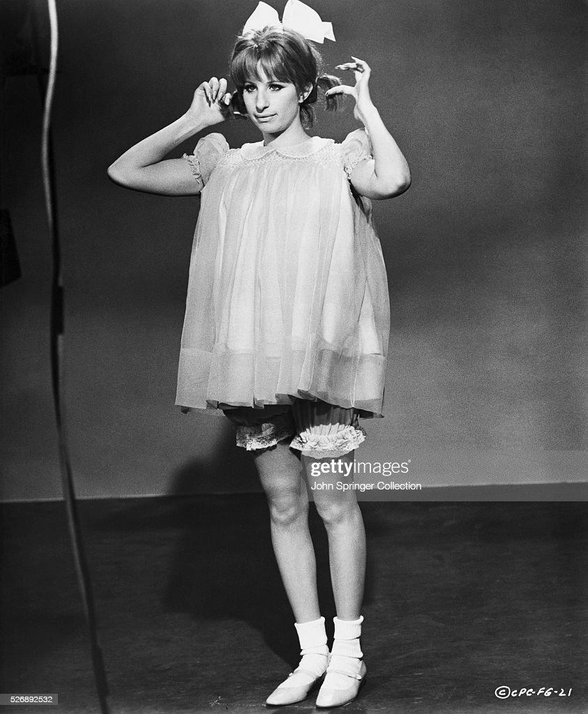 Barbra Streisand in Costume from Funny Girl : News Photo