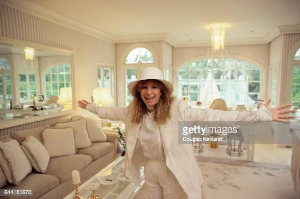 Barbra Streisand in Her Living Room
