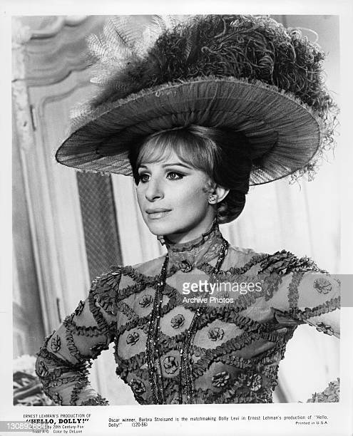 Barbra Streisand is the matchmaking Dolly Levi in a scene from the film 'Hello Dolly!', 1969.