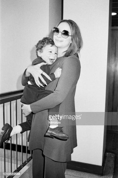 Barbra Streisand leaving Heathrow Airport for New York with her son Jason aged 2 10th April 1969