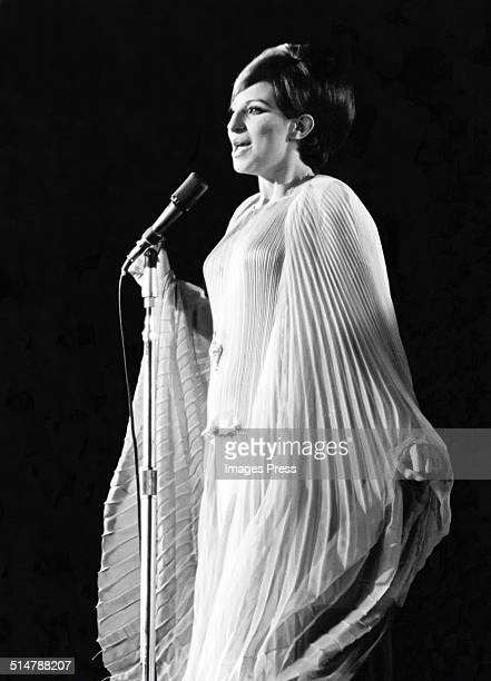 Barbra Streisand performs live for the filming of A Happening in Central Park at Central Park circa June 1967 in New York City