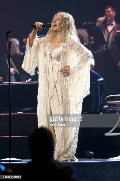 Barbra Streisand performs onstage at Madison Square Garden on August 03, 2019 in New York City.
