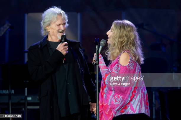 Barbra Streisand performs with Kris Kristofferson during Barclaycard Presents British Summer Time Hyde Park at Hyde Park on July 07 2019 in London...